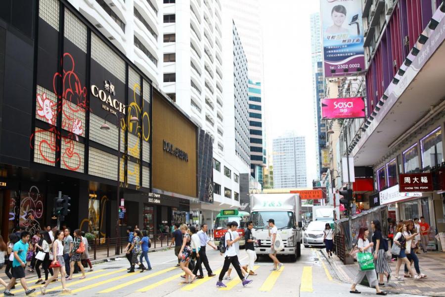 遊行示威對商舖市場打擊大,核心區舖租如銅鑼灣、尖沙咀等將受壓。