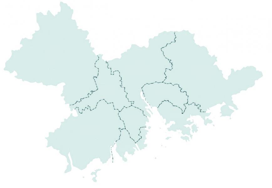 粵港澳大灣區地理圖