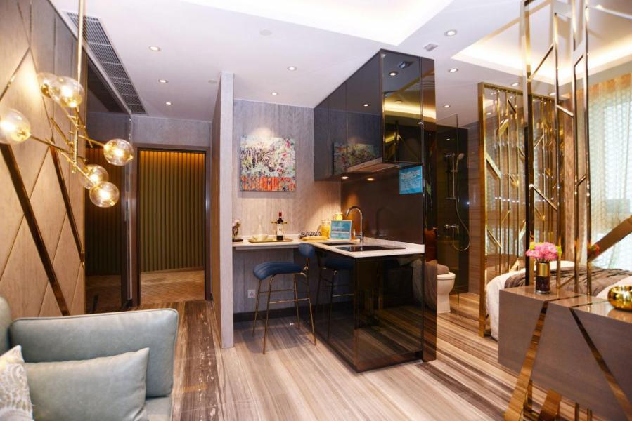 設計師為用盡單位空間,改為開放式設計,提升空間感。