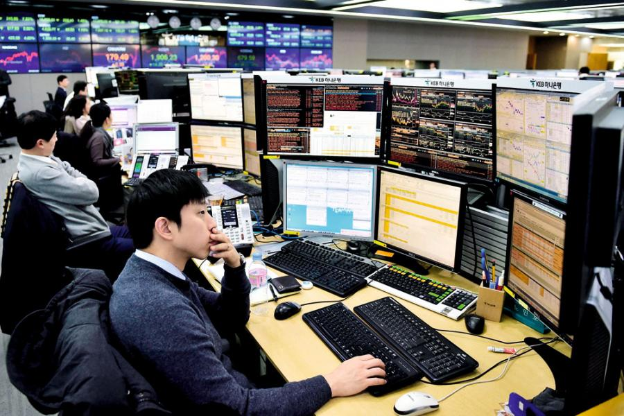 亞洲企業盈利持續改善,南韓股市上半年已升超過一成。