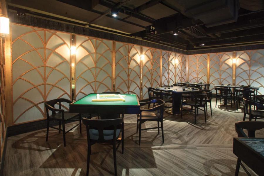 這裡設有麻將廳,大家品嚐過美味佳餚後,可與三五知己一邊享受竹戰樂趣,一邊細味茶香雞尾酒。