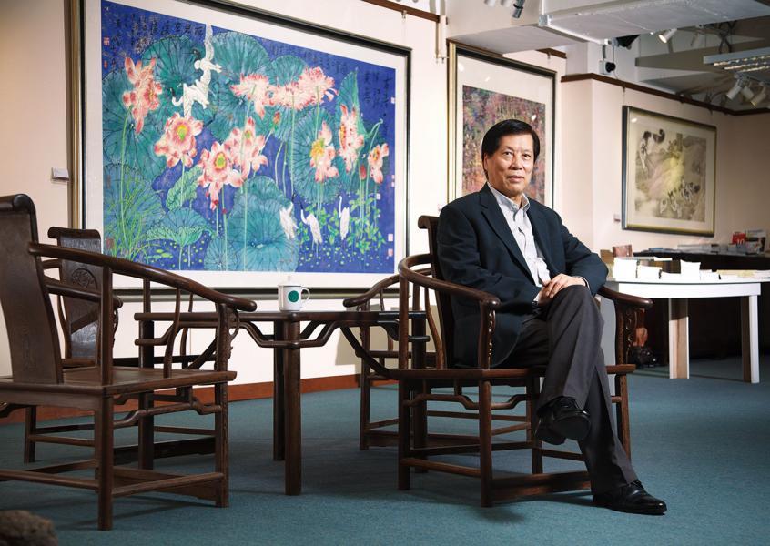 資深收藏家、雲峰畫苑創辦人郭浩滿。
