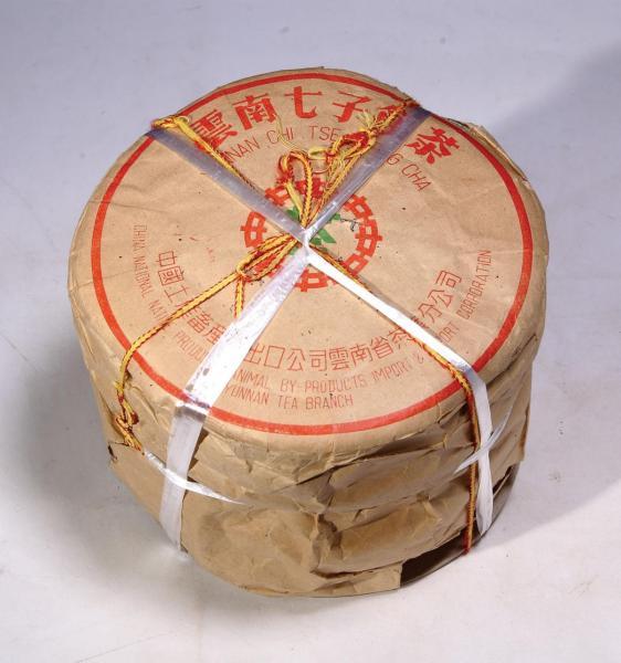 50年代生產的大字紅印青餅。