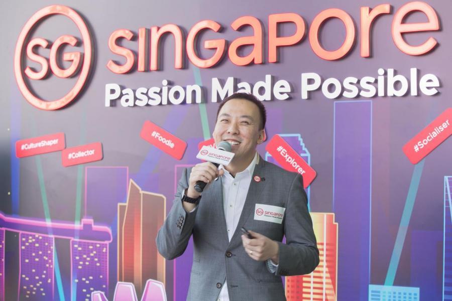 新加坡旅遊局中國華南地區、香港及澳門區處長黃慶祥先生介紹全新旅遊品牌「Passion Made Possible」