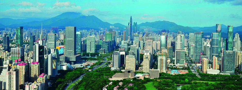 香港與珠三角城市合作空間廣闊,圖為深圳市。
