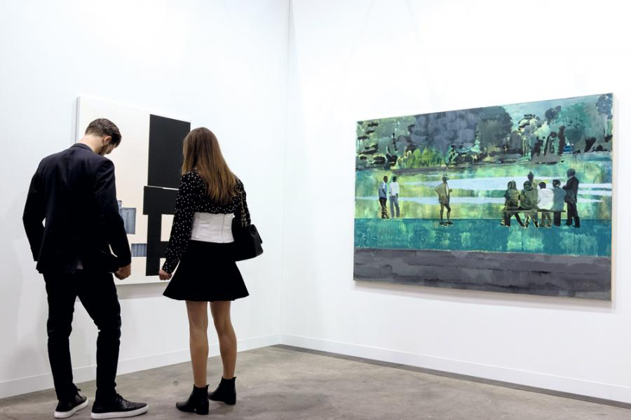 香港巴賽爾藝術展(Art Basel)的參展商與入場人士數目與日俱增,反映本地藝術市場越趨成熟。