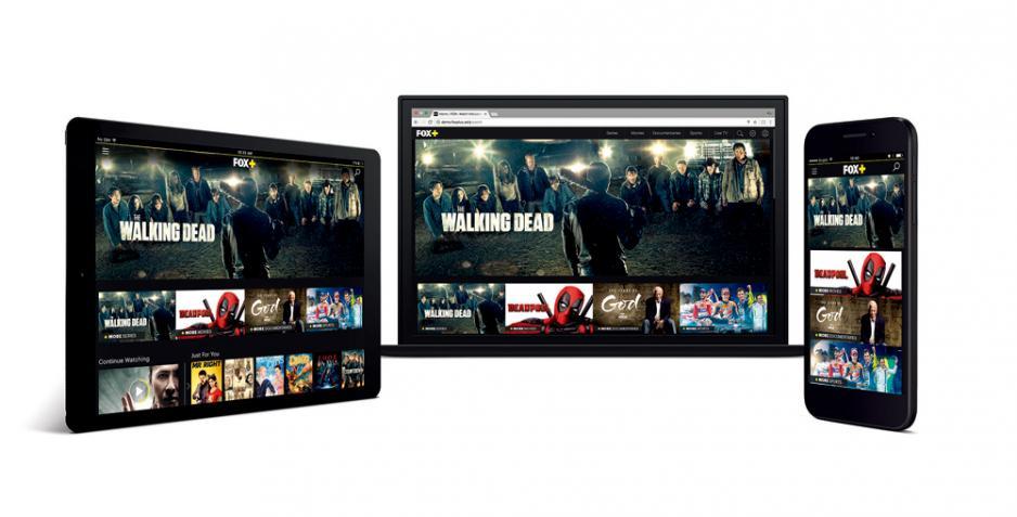 新推出的串流服務Fox+讓觀眾能夠透過流動裝置對海量節目先睹為快。