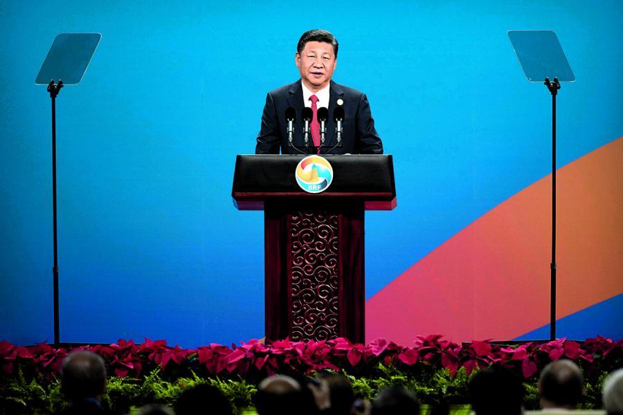 國家主席習近平在一帶一路高峰論壇發表演說
