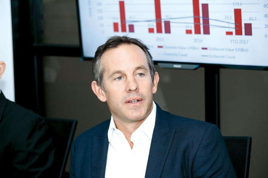 Acuris行政總裁Hamilton Matthews料中國的併購交易數量將於年內保持沉寂。