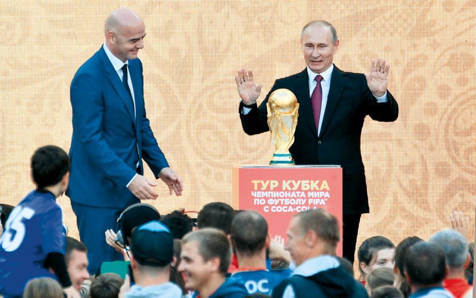 俄羅斯總統普京早前出席世界盃活動。