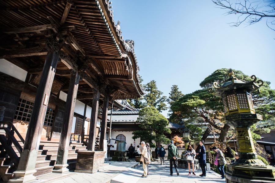 修禪寺為當地古剎,吸引不少日本人前來朝拜。