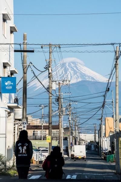 在沼津也可以清楚看到富士山。