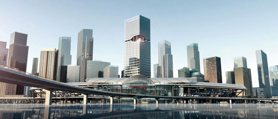 位處廣州南站旁的路福聯合廣場,是陳裕光退任大家樂主席後,首個大型綜合發展項目。