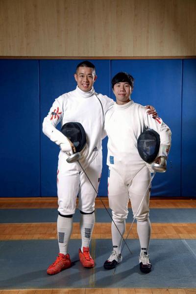 湯振傑與香港劍擊好手黎家俊,於拍攝當日擔任其對手。