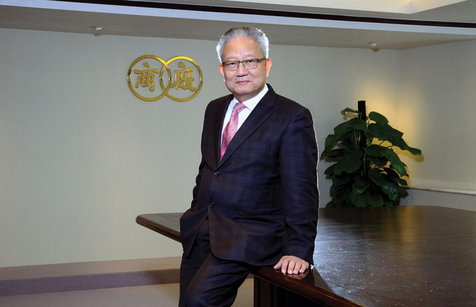 新任香港中華廠商聯合會新任會長吳宏斌。