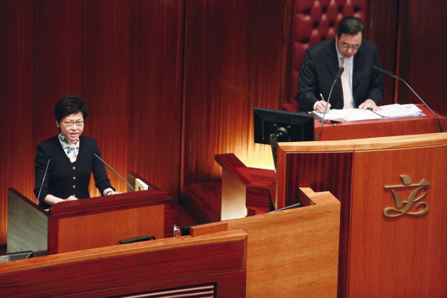 林鄭履新特首第五日,便出席立法會答問大會,推措施改善行政立法關係。