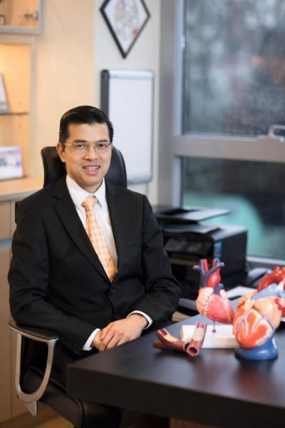 香港浸信會醫院心臟中心主任余卓文醫生。