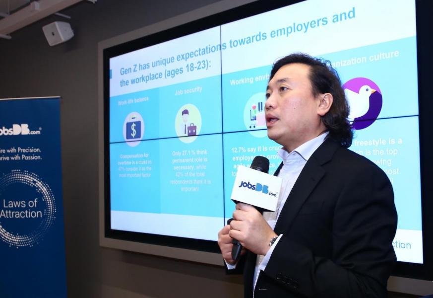 jobsDB香港區行政總裁仇崑石強調表示,Z世代對「零工經濟」採取更開放的態度。