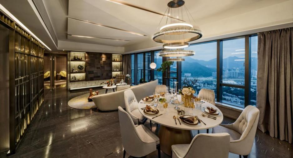 「尚珩La Cresta」現樓裝修示範單位為2 座8樓A單位,屬4房戶型,包括2套房。