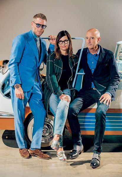 Grand Basel三位董事局成員,由左起:Lapo Elkann、Sylvie Fleury及Paolo Tumminelli