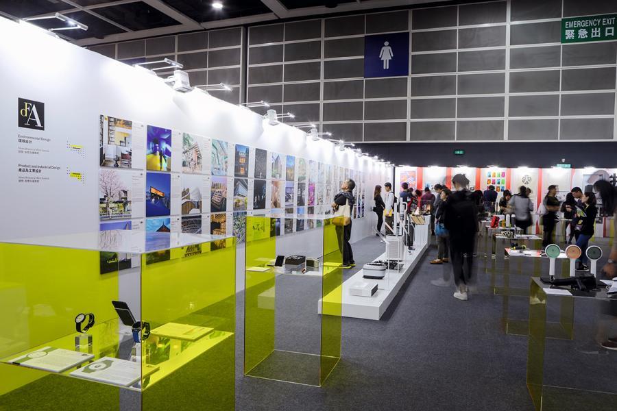 場內展示DFA設計獎各得獎者的獲獎作品及設計。