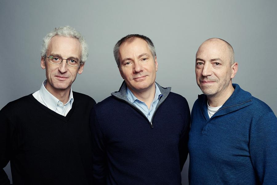 Devialet三位聯合創辦人:(左起)工程師Pierre-Emmanuel Calmel、企業家Quentin Sannié及設計師Emmanuel Nardin。
