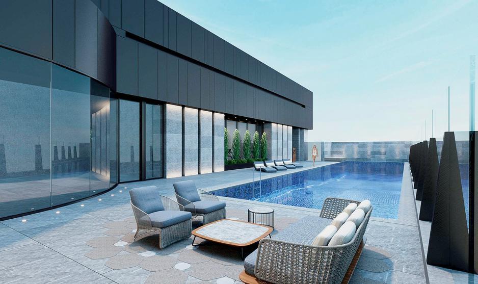 身處沙田區,很難想像到有個如此悠閒的游泳池。