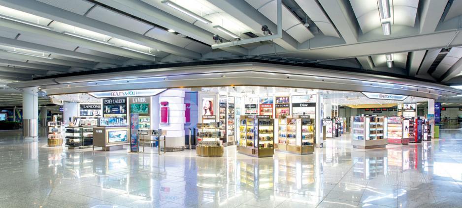 新羅免稅店新店引入不同品牌專櫃。