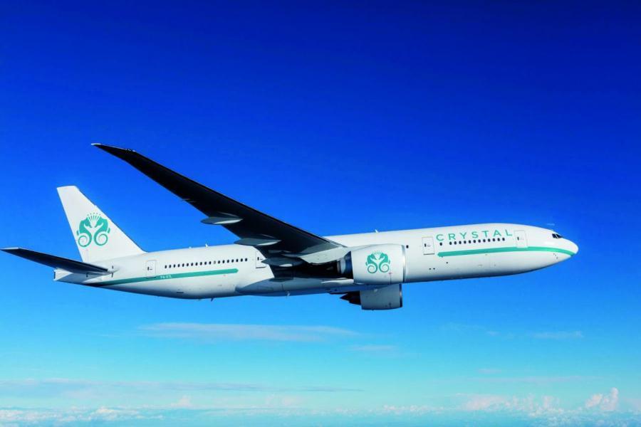 水晶航空的首架飛機,名為「水晶天際1號」。
