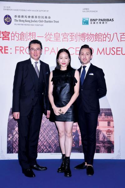 (由左起)「法國五月」董事局主席阮偉文、「法國五月」大使林嘉欣及Julien。