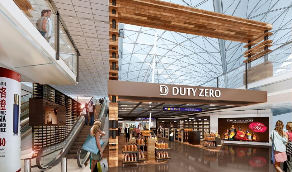 Duty Zero的開放式設計,讓旅客不期然地步入其中。