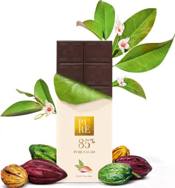 濃醇85%黑巧克力磚。
