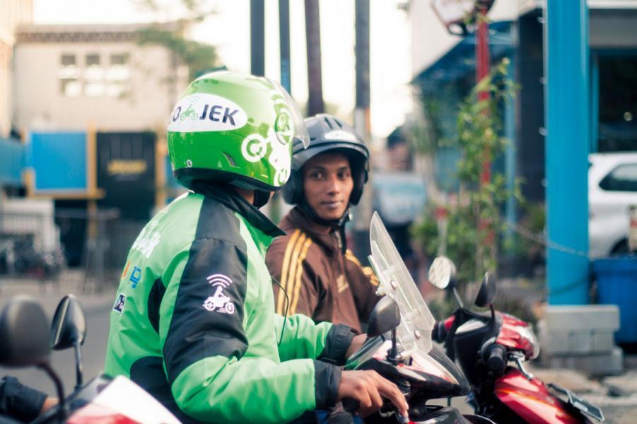 金融科技在東南亞發展蓬勃,圖為印尼知名交通服務平台Go-Jek。