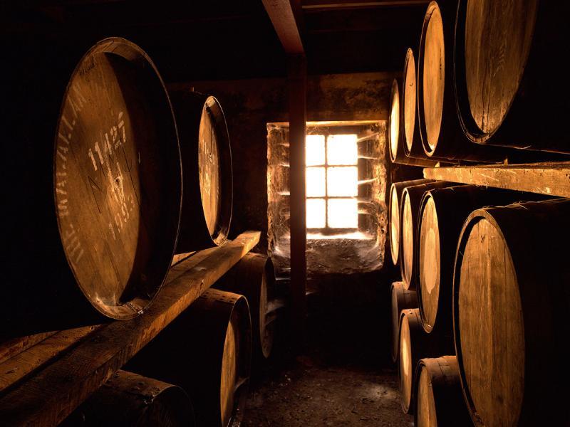 釀製威士忌的木桶。