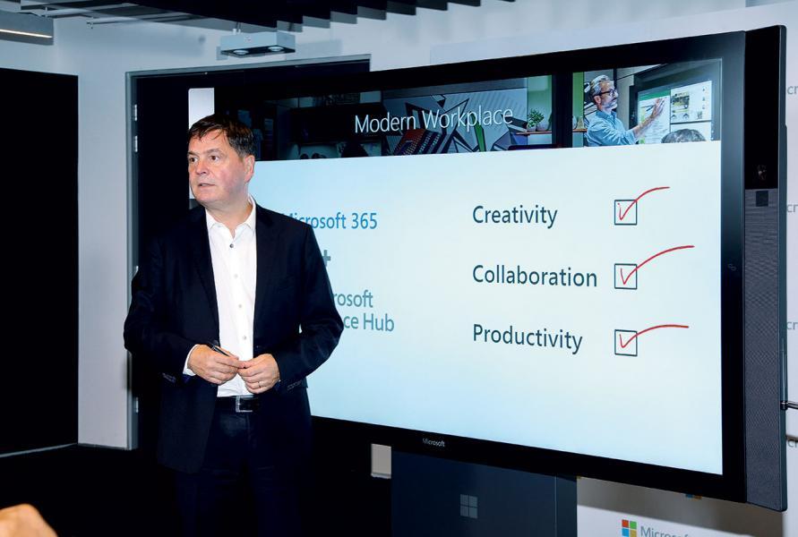 Microsoft近年力推作業平板Surface Hub,以及雲端版作業作業軟件Microsoft 365,期望改變既有的辦公室生態。