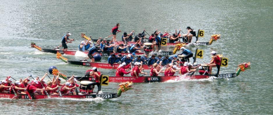 DBS Marina Regatta 是新加坡最大型的龍舟活動。