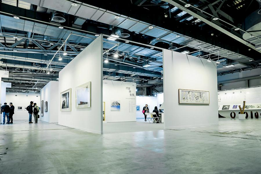 於上月中在台北舉行的「水墨現場」展覽。