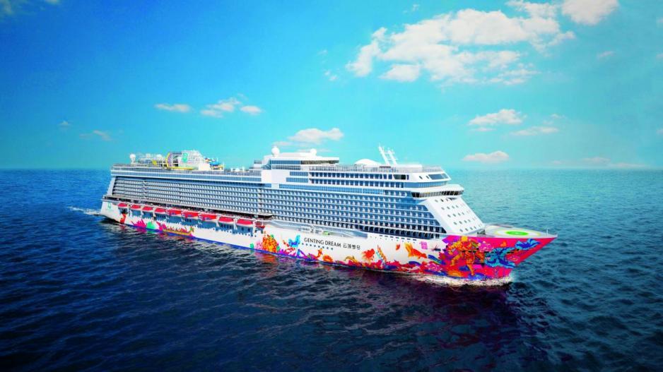 星夢郵輪的首艘郵輪「雲頂夢號」,可載客3,400人。