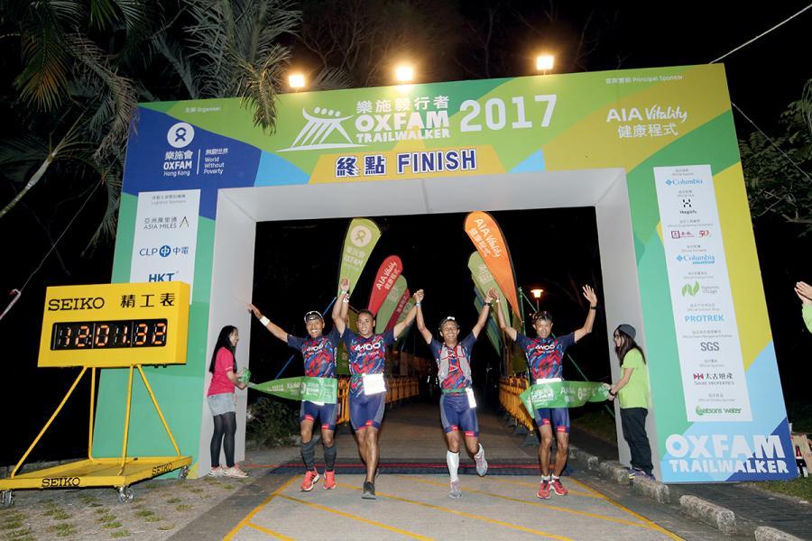 去年「毅行者」比賽的冠軍為AWOO Nepal Team,時間是12小時01分鐘