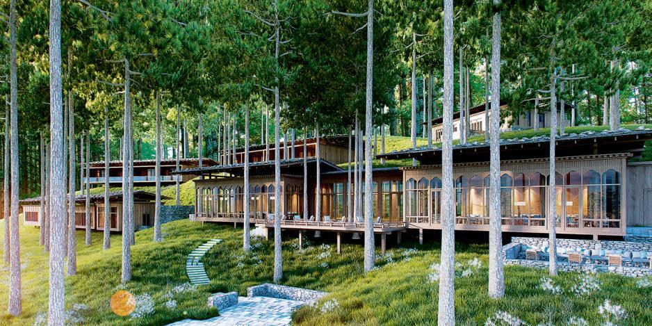 位於海拔3,000米處的崗提六善酒店。