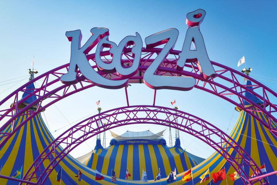 「Kooza」由4月19日起在中環海濱活動空間演出,更會在標誌性黃藍馬戲帳篷裡上演。