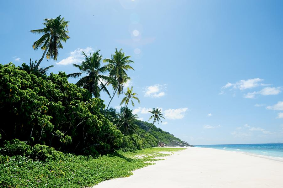 塞舌爾的沙灘之美,天下第一。