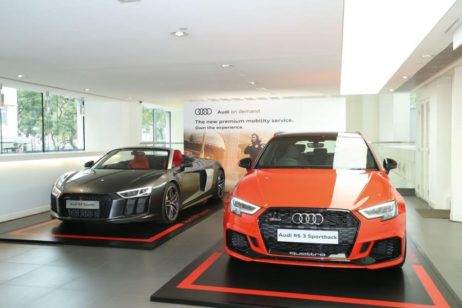 很多人的dream car超級跑車R8 Spyder也包括在「Audi on demand」內。