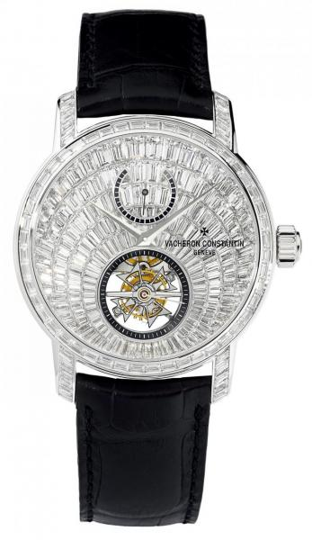 Vacheron Constantin Traditionnelle 14天動力儲存高級珠寶陀飛輪腕錶,約HK$4,400,000(限量3枚並附獨立編號,僅於江詩丹頓香港及澳門專賣店發售)