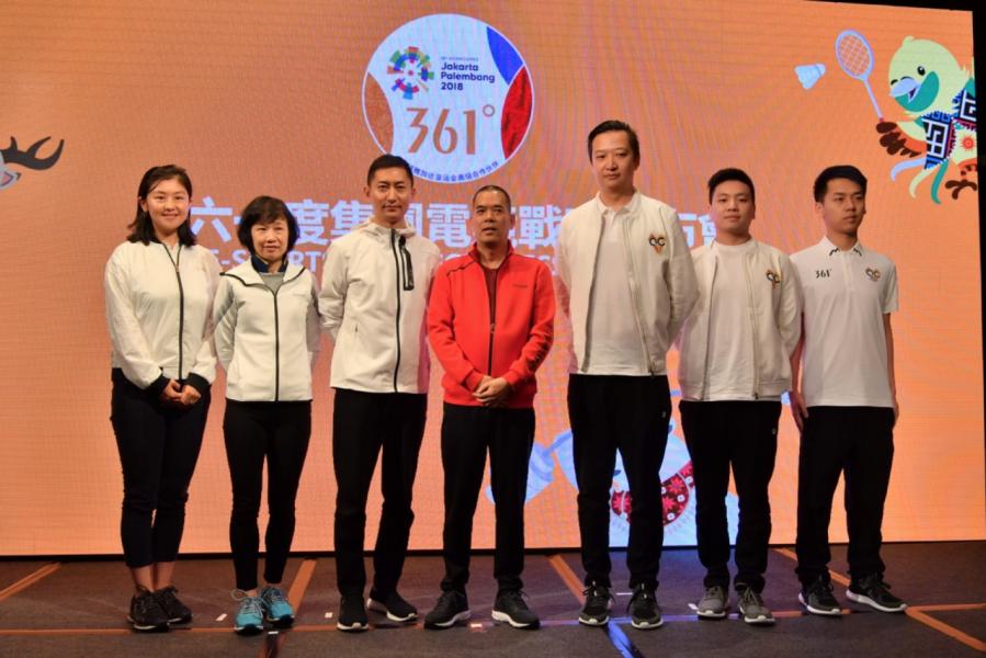 361˚與QG俱樂部創始人朱博先生(圖右三)及電競隊員代表(圖右一及右二)合照,正式公布集團電競戰略規劃。