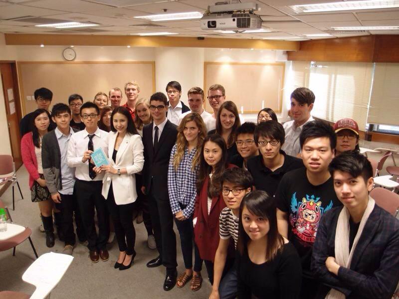 Fiona應香港理工大學邀請,與商學院的學生分享營商之道。