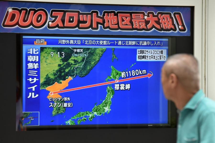 北韓狂射飛彈,間接令安倍的支持度上升。