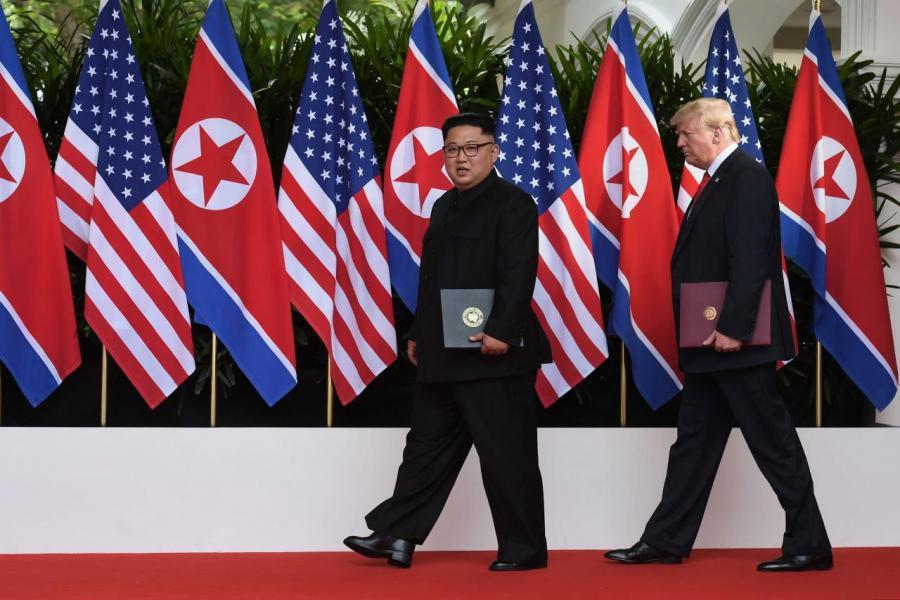 美國總統特朗普與金正恩歷史性會晤,會後更發表聯合聲明。