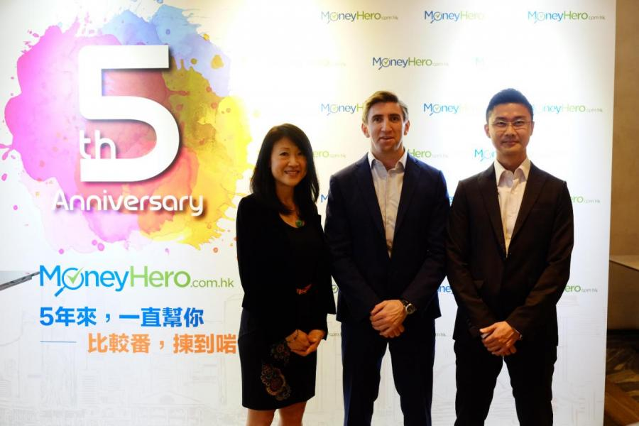 (左起)MoneyHero市場營運總監劉雪鈴、MoneyHero創辦人兼營運總監 Mr Alister Musgrave、MoneyHero產品營運總監姚仕劍。