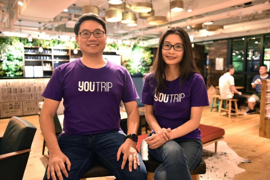 (左)YouTrip 聯合創辦人暨主席麥德樑 和(右)YouTrip 聯合創辦人暨行政總裁朱穎德